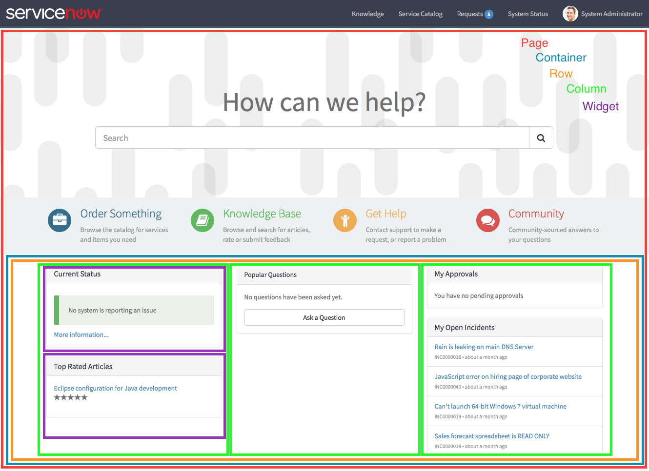 Exercise: Building a Homepage | CodeCreative | A ServiceNow Blog